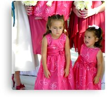 """Pouting""  (Unhappy Flower Girl) Canvas Print"