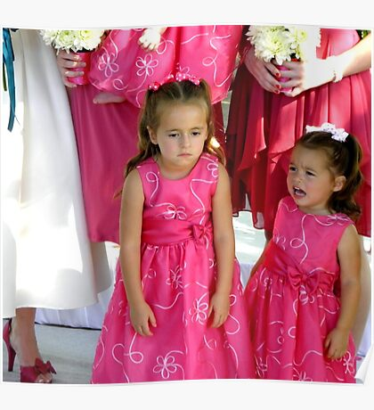 """""""Pouting""""  (Unhappy Flower Girl) Poster"""