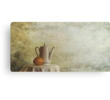 a jugful tea and a orange Canvas Print