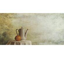 a jugful tea and a orange Photographic Print
