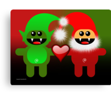 SANTA&LITTLE HELPER Canvas Print