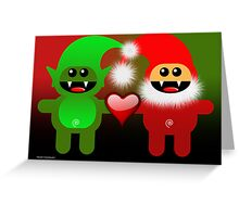 SANTA&LITTLE HELPER Greeting Card