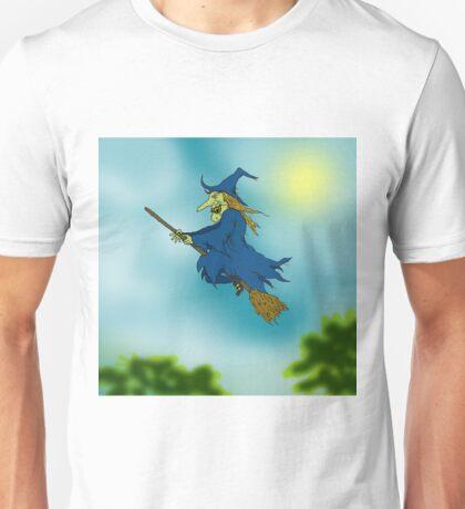 Blue sky Witch. Unisex T-Shirt