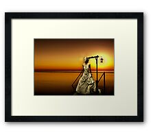 My heart is lost Framed Print
