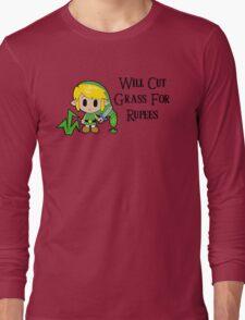 Link Will Cut Grass For Rupees Long Sleeve T-Shirt