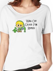 Link Will Cut Grass For Rupees Women's Relaxed Fit T-Shirt