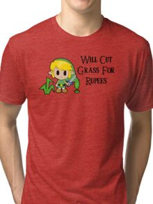 Link Will Cut Grass For Rupees Tri-blend T-Shirt
