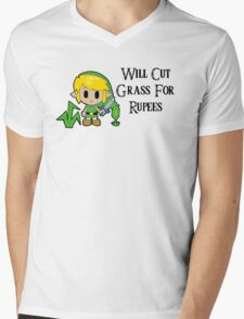 Link Will Cut Grass For Rupees Mens V-Neck T-Shirt