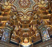 Ceiling of the Arabian room at Cardiff castle by suz01