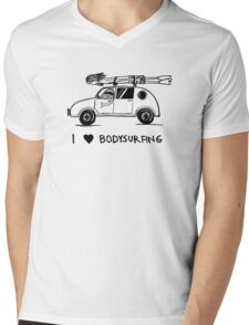 I heart bodysurfing Mens V-Neck T-Shirt