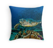 Hawkesbill Turtle Throw Pillow
