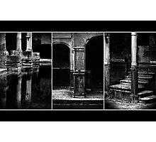 Roman Baths Triptych [black] Photographic Print