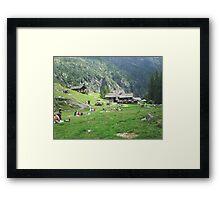 ai piedi del monte Rosa, Alagna, Italy-EUROPA....a MAURIZIO -4000 VISUALIZZ. 2013 featured in italy 500+ ...& FEATURED RB EXPLORE 24 OTTOBRE 2011  && Framed Print