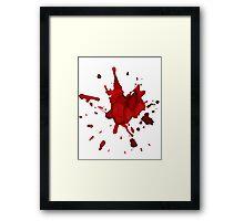halloween blood  Framed Print