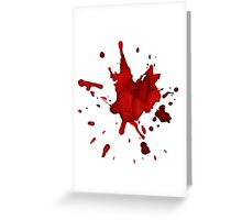 halloween blood  Greeting Card