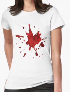 halloween blood  Womens Fitted T-Shirt