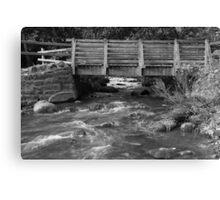 Water Under The Bridge. Canvas Print