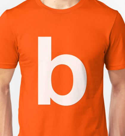 white b Unisex T-Shirt