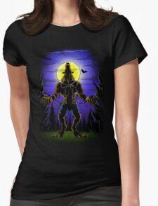 Werewolf Halloween Womens Fitted T-Shirt