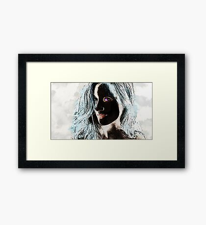 The Woman in Color Framed Print
