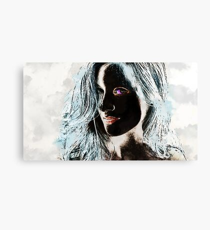 The Woman in Color Canvas Print