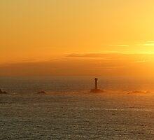 Sunset at Senan Cove ,Cornwall. by Lee Van Hallam
