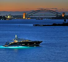 Champagne Twilight, Sydney Harbor by Ian Berry