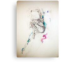 Spirit dancer, ink and pen  Canvas Print
