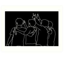 one direction art sketch Art Print