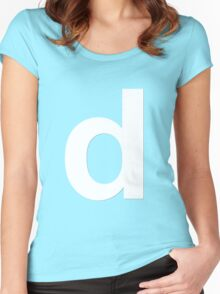 white d Women's Fitted Scoop T-Shirt