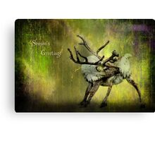 Season's greetings - caribou Canvas Print