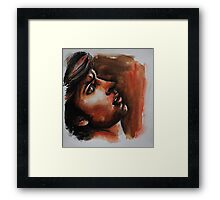 Effrayé (scared) featured in The Goup, Framed Print