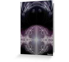 Indigo Crystal Ball Greeting Card