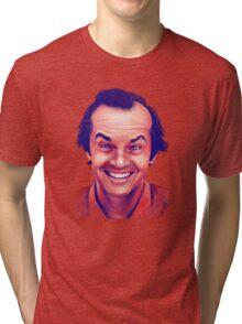 Smiling young Jack Nicholson digital painting Tri-blend T-Shirt