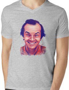Smiling young Jack Nicholson digital painting Mens V-Neck T-Shirt