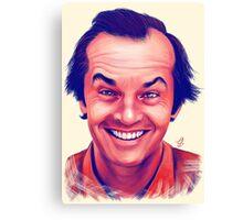 Smiling young Jack Nicholson digital painting Canvas Print