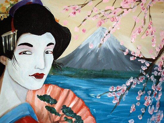 Cherry Blossom Geisha by Debbie by debzandbex
