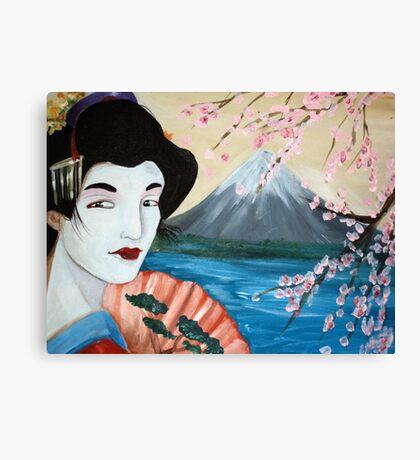 Cherry Blossom Geisha by Debbie Canvas Print