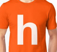 white h Unisex T-Shirt