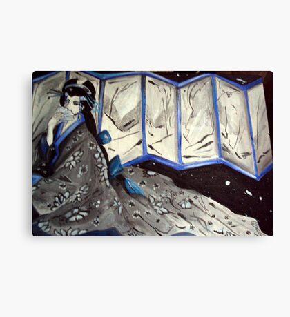 Blue Geisha Canvas Print