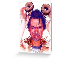 Steve Buscemi and donuts digital painting Greeting Card