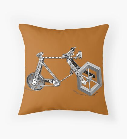 Impossible Bike Throw Pillow