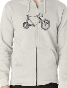 Impossible Bike Zipped Hoodie