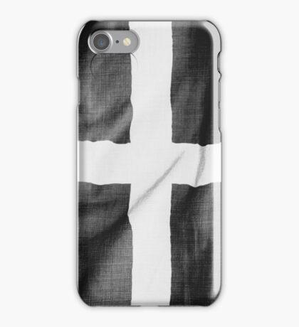 Cornwall - Flag of St Piran - Kernow iPhone Case/Skin