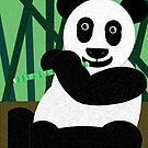 Panda Poster by Anglofile