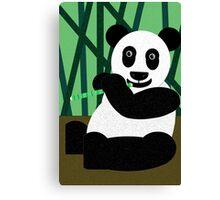 Panda Poster Canvas Print