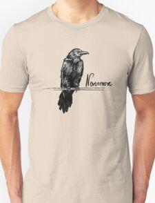 Nevermore raven - Edgar Allan Poe illustration T-Shirt
