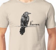 Nevermore raven - Edgar Allan Poe illustration Unisex T-Shirt