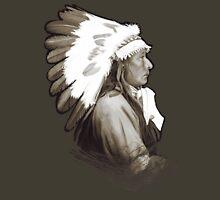 Native Amerivan chief digital painting Unisex T-Shirt