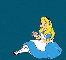 Tea Party - Alice In Wonderland by SBRGdesign